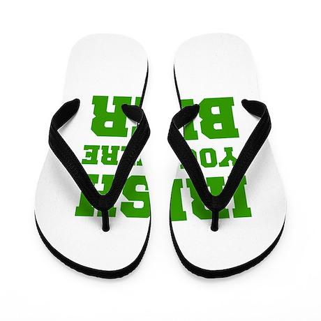 irish-you-were-beer-fresh-green Flip Flops