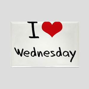 I love Wednesday Rectangle Magnet