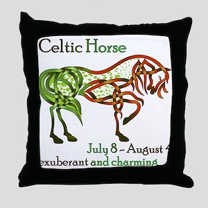 Celtic Horse Throw Pillow