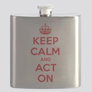 Keep Calm Act On Flask