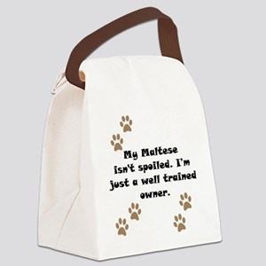 Well Trained Maltese Owner Canvas Lunch Bag