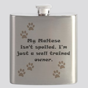 Well Trained Maltese Owner Flask