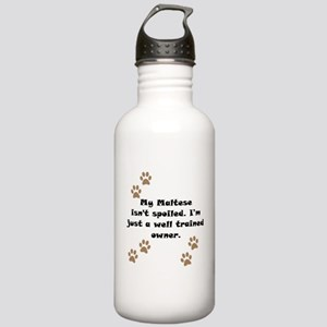 Well Trained Maltese Owner Sports Water Bottle