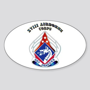 XVIII Airborne Corps - DUI Sticker (Oval)