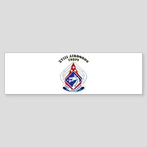 XVIII Airborne Corps - DUI Sticker (Bumper)