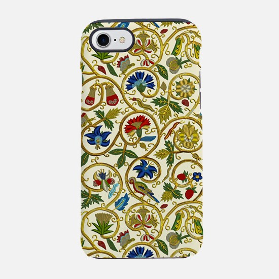 Elizabethan Swirl Embroideries iPhone 7 Tough Case