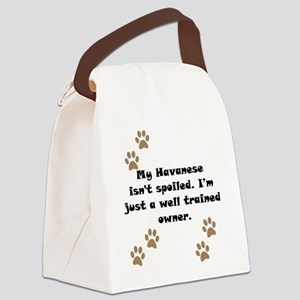 Well Trained Havanese Owner Canvas Lunch Bag