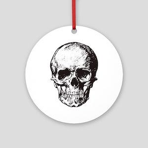 Skull I Round Ornament