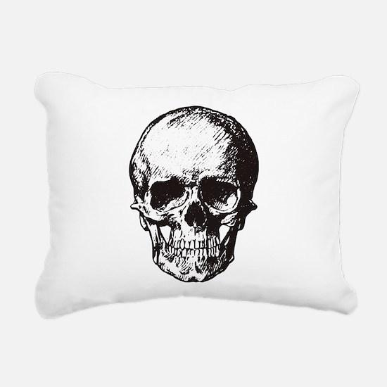 Skull I Rectangular Canvas Pillow
