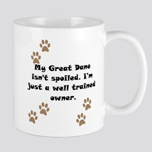 Well Trained Great Dane Owner Small Mug