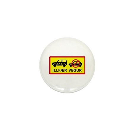 Difficult Road - Iceland Mini Button (10 pack)