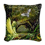 The Secret Garden Woven Throw Pillow