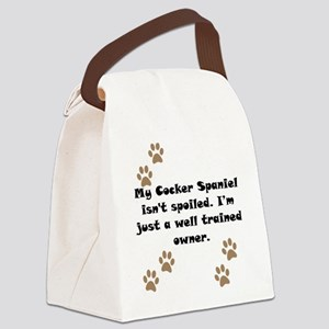 Well Trained Cocker Spaniel Owner Canvas Lunch Bag