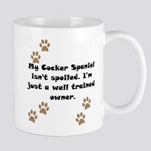 Well Trained Cocker Spaniel Owner Small Mug