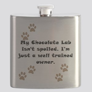 Well Trained Chocolate Lab Owner Flask