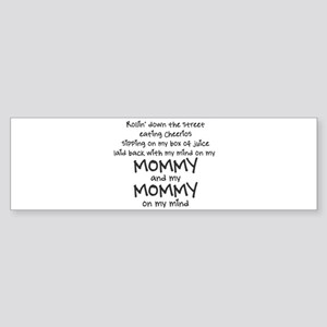 rollin-down-the-street-pin-black Bumper Sticker