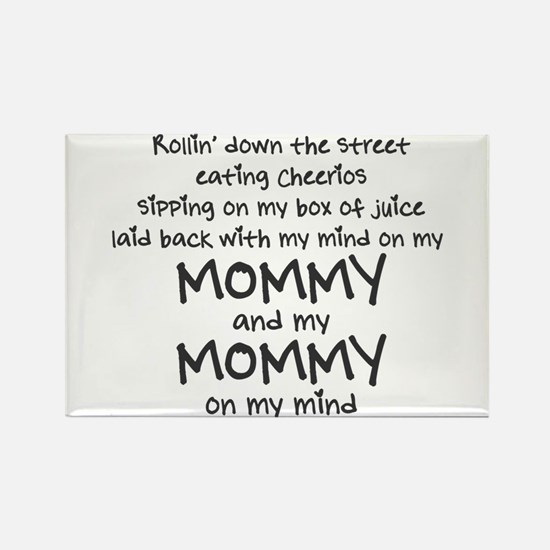 rollin-down-the-street-pin-black Rectangle Magnet