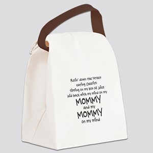 rollin-down-the-street-pin-black Canvas Lunch Bag