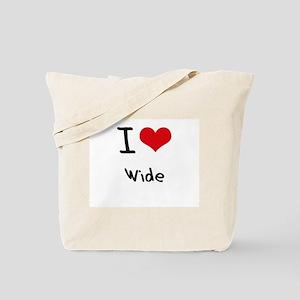 I love Wide Tote Bag
