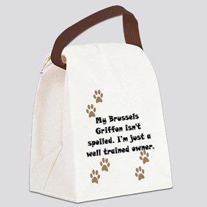 Well Trained Brussels Griffon Owner Canvas Lunch B