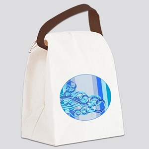 Swirling Wind Waves Canvas Lunch Bag
