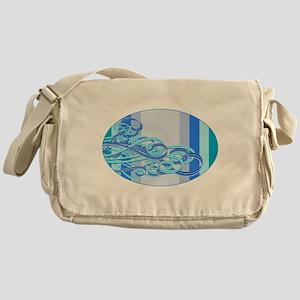 Swirling Wind Waves Messenger Bag