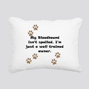 Well Trained Bloodhound Owner Rectangular Canvas P