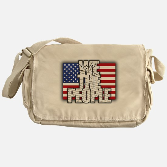 WE THE PEOPLE with Flag Messenger Bag