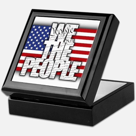 WE THE PEOPLE with Flag Keepsake Box