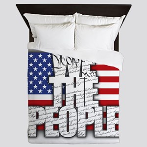 WE THE PEOPLE with Flag Queen Duvet