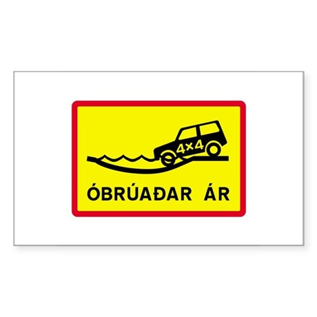 Unbridged River - Iceland Rectangle Sticker
