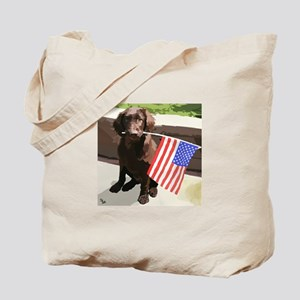 4th of July Puppy too Tote Bag