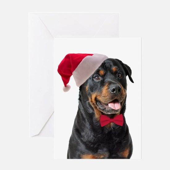 Santa Rottie Greeting Card
