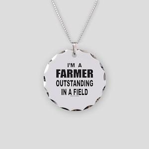 I'M A FARMER Necklace Circle Charm