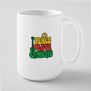 Reggae Peace Love Music Mug