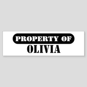 Property of Olivia Bumper Sticker