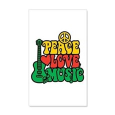 Reggae Peace Love Music Wall Decal