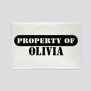 Property of Olivia Rectangle Magnet