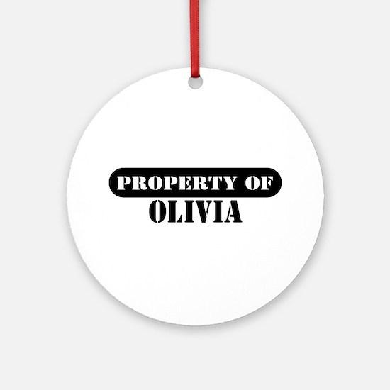 Property of Olivia Ornament (Round)
