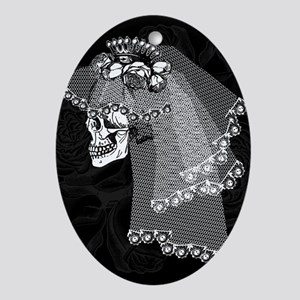 Skull Bride Ornament (Oval)