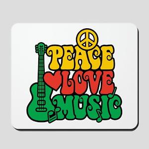 Reggae Peace Love Music Mousepad