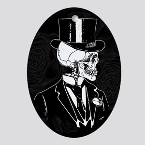 Skull Groom Ornament (Oval)
