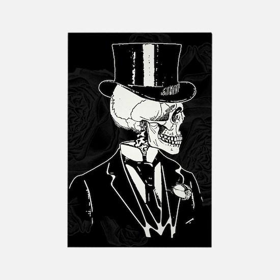 Skull Groom Rectangle Magnet