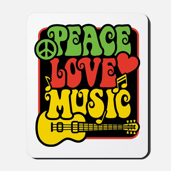 Rasta Peace Love Music Mousepad