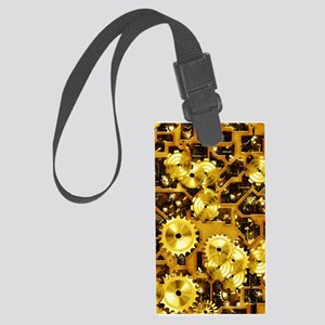 SteamClockwork-Brass Large Luggage Tag
