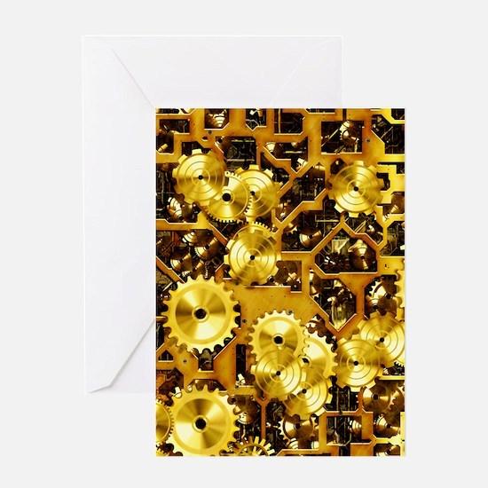 SteamClockwork-Brass Greeting Card