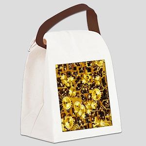 SteamClockwork-Brass Canvas Lunch Bag
