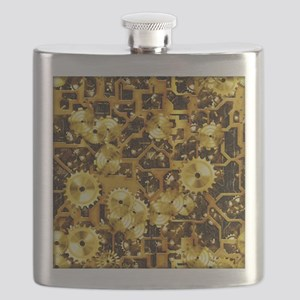SteamClockwork-Brass Flask