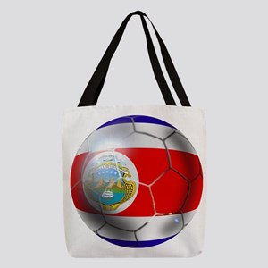 Costa Rica Soccer Ball Polyester Tote Bag