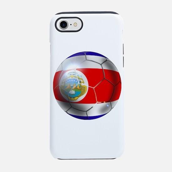 Costa Rica Soccer Ball iPhone 7 Tough Case